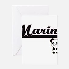 Marin Classic Retro Name Design wit Greeting Cards