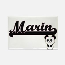 Marin Classic Retro Name Design with Panda Magnets