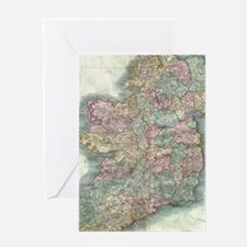Vintage Map of Ireland (1799) Greeting Cards