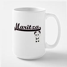Maritza Classic Retro Name Design with Panda Mugs