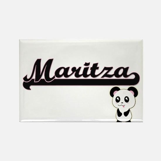 Maritza Classic Retro Name Design with Pan Magnets