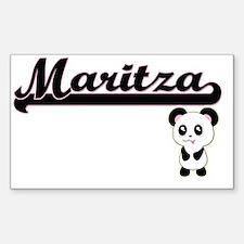 Maritza Classic Retro Name Design with Pan Decal