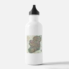 Vintage Map of Ireland Water Bottle