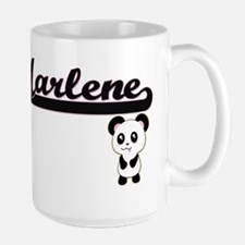 Marlene Classic Retro Name Design with Panda Mugs