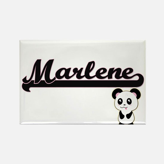 Marlene Classic Retro Name Design with Pan Magnets