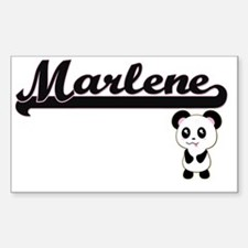 Marlene Classic Retro Name Design with Pan Decal