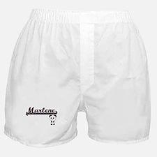 Marlene Classic Retro Name Design wit Boxer Shorts