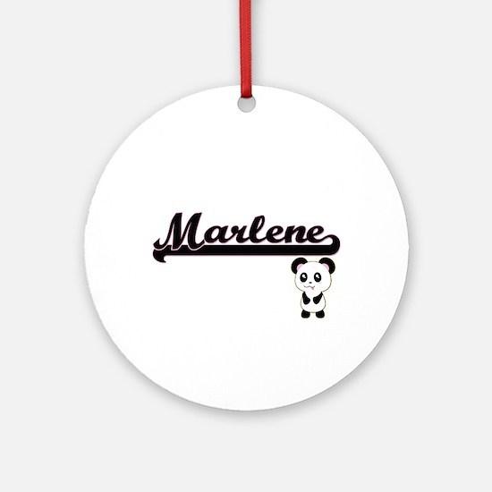 Marlene Classic Retro Name Design Ornament (Round)