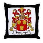 Descamps Family Crest  Throw Pillow