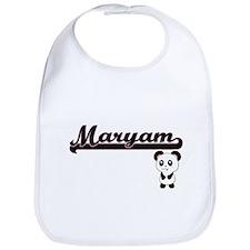 Maryam Classic Retro Name Design with Panda Bib