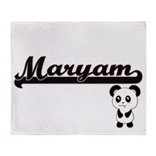 Maryam Classic Retro Name Design wit Throw Blanket