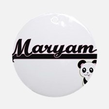 Maryam Classic Retro Name Design Ornament (Round)