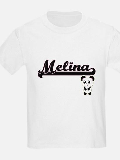 Melina Classic Retro Name Design with Pand T-Shirt