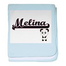 Melina Classic Retro Name Design with baby blanket