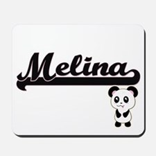Melina Classic Retro Name Design with Pa Mousepad