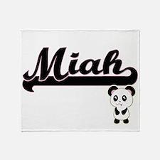 Miah Classic Retro Name Design with Throw Blanket