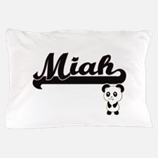 Miah Classic Retro Name Design with Pa Pillow Case