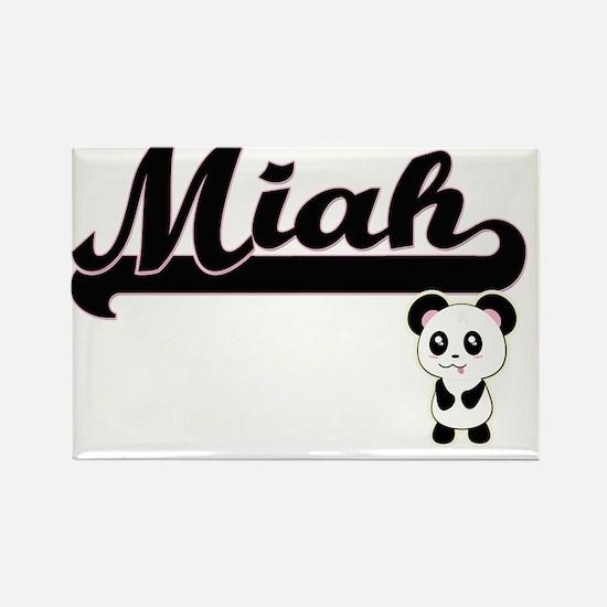 Miah Classic Retro Name Design with Panda Magnets