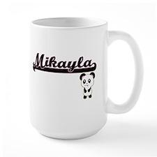 Mikayla Classic Retro Name Design with Panda Mugs