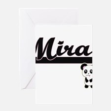 Mira Classic Retro Name Design with Greeting Cards