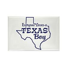 Texas Boy Rectangle Magnet