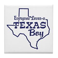 Texas Boy Tile Coaster