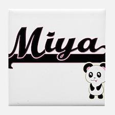 Miya Classic Retro Name Design with P Tile Coaster