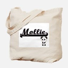 Mollie Classic Retro Name Design with Pan Tote Bag