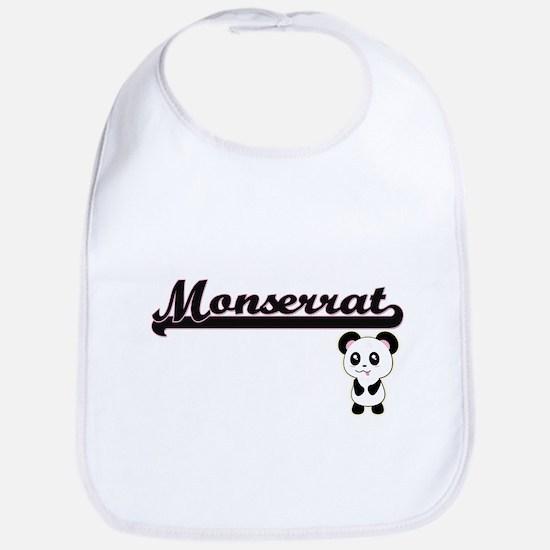 Monserrat Classic Retro Name Design with Panda Bib