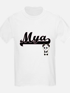 Mya Classic Retro Name Design with Panda T-Shirt