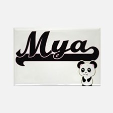 Mya Classic Retro Name Design with Panda Magnets