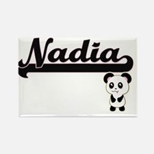 Nadia Classic Retro Name Design with Panda Magnets