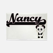 Nancy Classic Retro Name Design with Panda Magnets