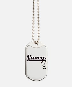 Nancy Classic Retro Name Design with Pand Dog Tags