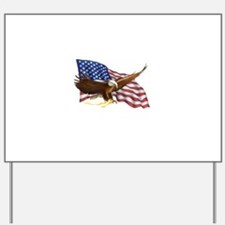 American Flag and Eagle Yard Sign