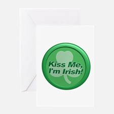 Kiss Me I'm Irish - Shamrock Greeting Card