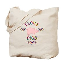 I Love Pigs Tote Bag