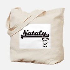 Nataly Classic Retro Name Design with Pan Tote Bag