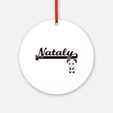 Nataly Classic Retro Name Design Ornament (Round)