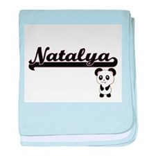 Natalya Classic Retro Name Design wit baby blanket