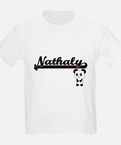 Nathaly Classic Retro Name Design with Pan T-Shirt