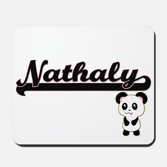 Nathaly Classic Retro Name Design with P Mousepad