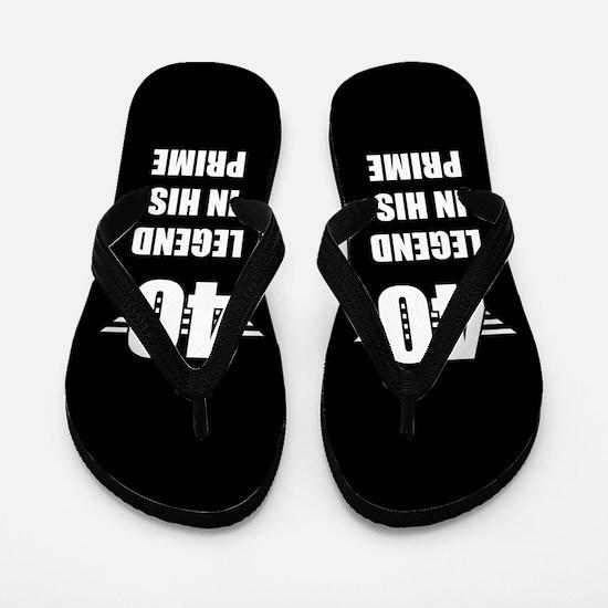 40th Birthday For Men Flip Flops
