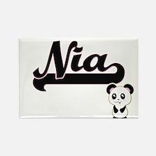 Nia Classic Retro Name Design with Panda Magnets