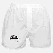 Nia Classic Retro Name Design with Pa Boxer Shorts