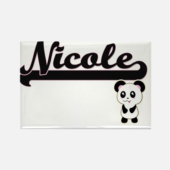 Nicole Classic Retro Name Design with Pand Magnets