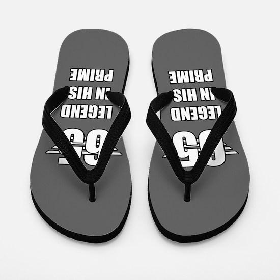 65th Birthday For Men Flip Flops