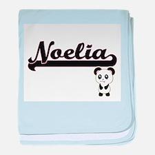 Noelia Classic Retro Name Design with baby blanket