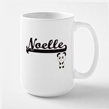 Noelle Classic Retro Name Design with Panda Mugs