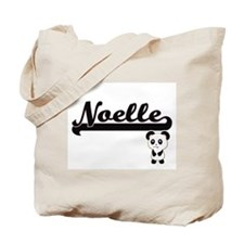 Noelle Classic Retro Name Design with Pan Tote Bag